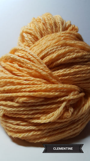 Clementine - Hand Dyed Aran/Worsted Yarn for Rug Hooking