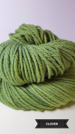 Clover - Hand Dyed Aran/Worsted Yarn for Rug Hooking