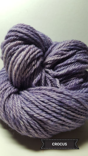 Crocus - Hand Dyed Aran/Worsted Yarn for Rug Hooking