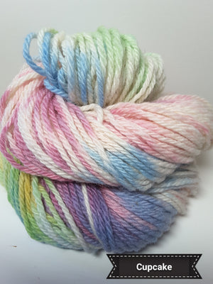 Cupcake - Hand Dyed Aran/Worsted Yarn for Rug Hooking