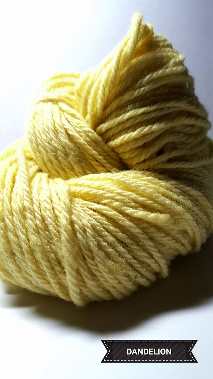 Dandelion - Hand Dyed Aran/Worsted Yarn for Rug Hooking