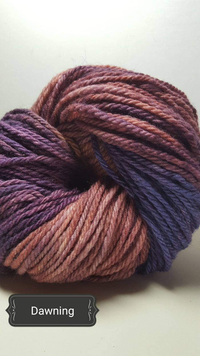 Dawning - Hand Dyed Aran/Worsted Yarn for Rug Hooking