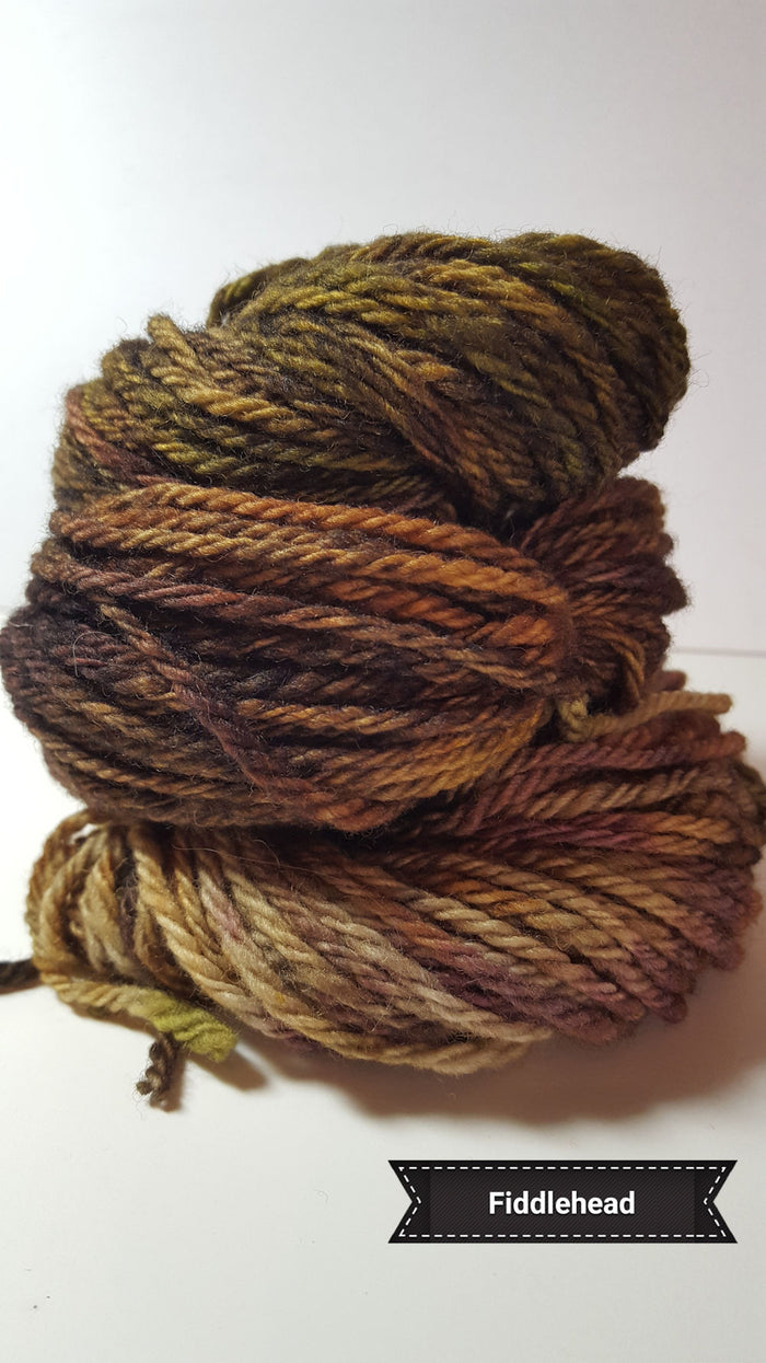 Fiddlehead - Hand Dyed Aran/Worsted Yarn for Rug Hooking