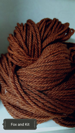 Fox and Kits - Hand Dyed Aran/Worsted Yarn for Rug Hooking