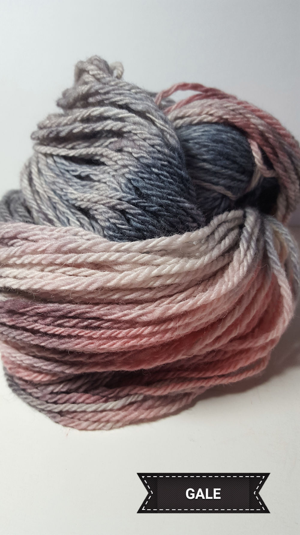 Gale - Hand Dyed Aran/Worsted Yarn for Rug Hooking