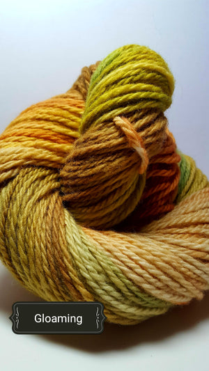 Gloaming - Hand Dyed Aran/Worsted Yarn for Rug Hooking