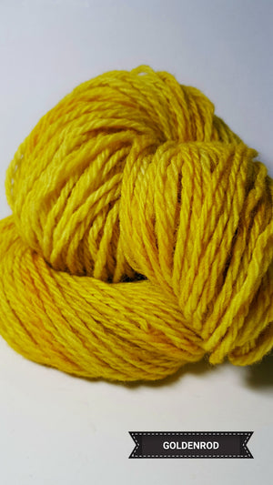 Goldenrod - Hand Dyed Aran/Worsted Yarn for Rug Hooking