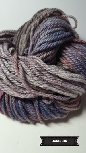 Harbour - Hand Dyed Aran/Worsted Yarn for Rug Hooking