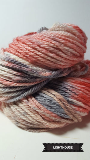Lighthouse - Hand Dyed Aran/Worsted Yarn for Rug Hooking