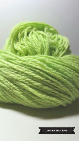 Linden Blossom - Hand Dyed Aran/Worsted Yarn for Rug Hooking