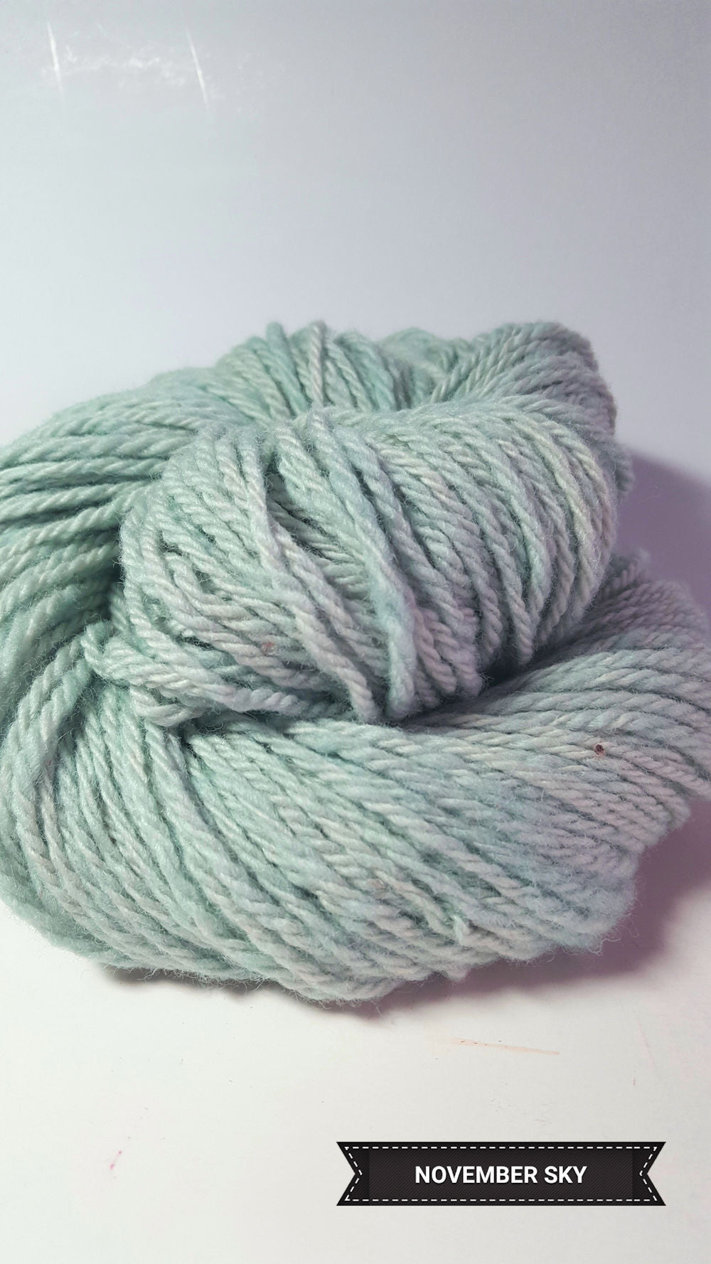November Sky - Hand Dyed Aran/Worsted Yarn for Rug Hooking