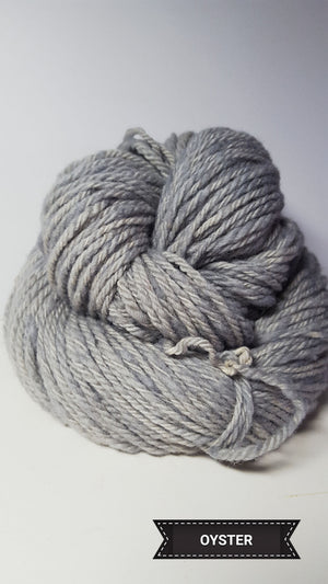 Oyster - Hand Dyed Aran/Worsted Yarn for Rug Hooking