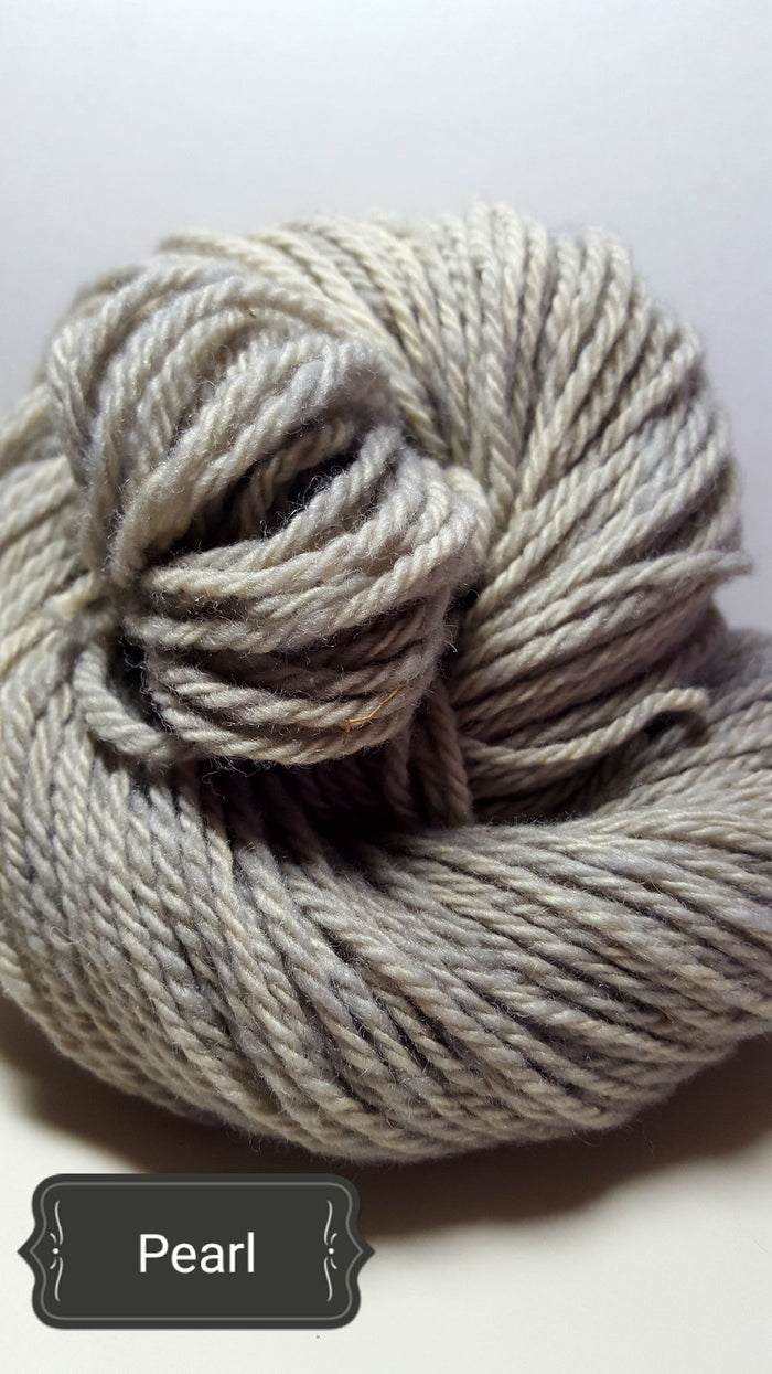 Pearl - Hand Dyed Aran/Worsted Yarn for Rug Hooking