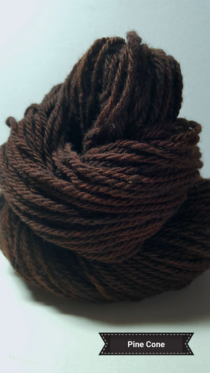 Pine Cone - Hand Dyed Aran/Worsted Yarn for Rug Hooking