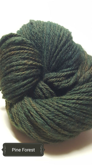 Pine Forest - Hand Dyed Aran/Worsted Yarn for Rug Hooking