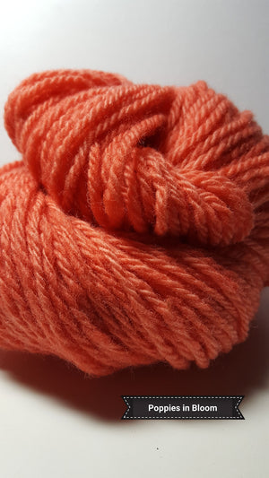 Poppies in Bloom - Hand Dyed Aran/Worsted Yarn for Rug Hooking