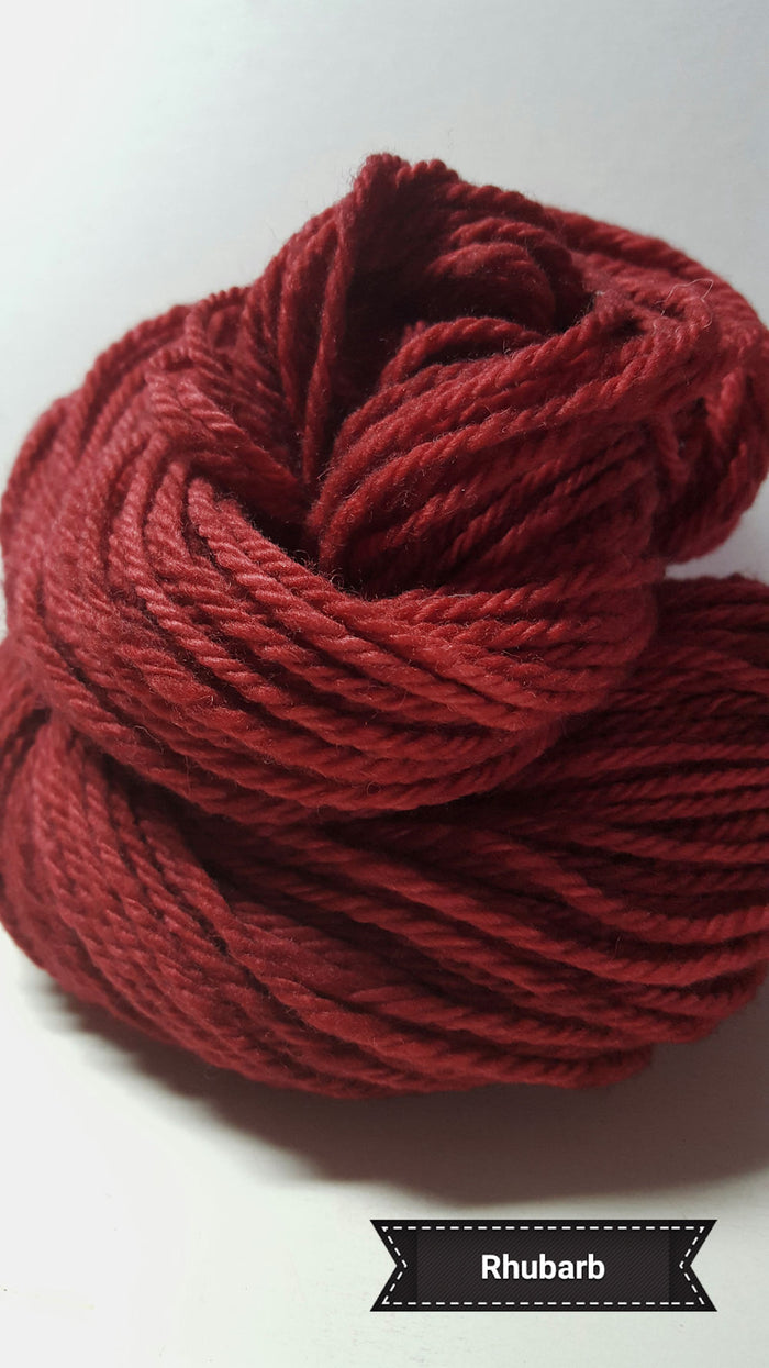 Rhubarb - Hand Dyed Aran/Worsted Yarn for Rug Hooking