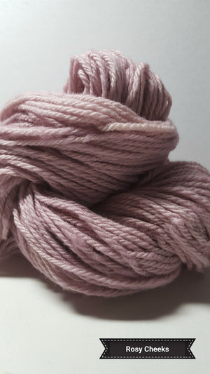 Rosy Cheeks - Hand Dyed Aran/Worsted Yarn for Rug Hooking