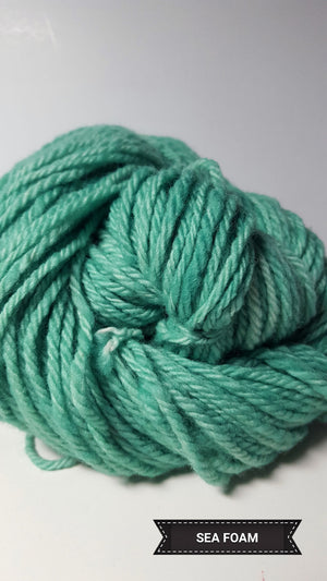Seafoam - Hand Dyed Aran/Worsted Yarn for Rug Hooking