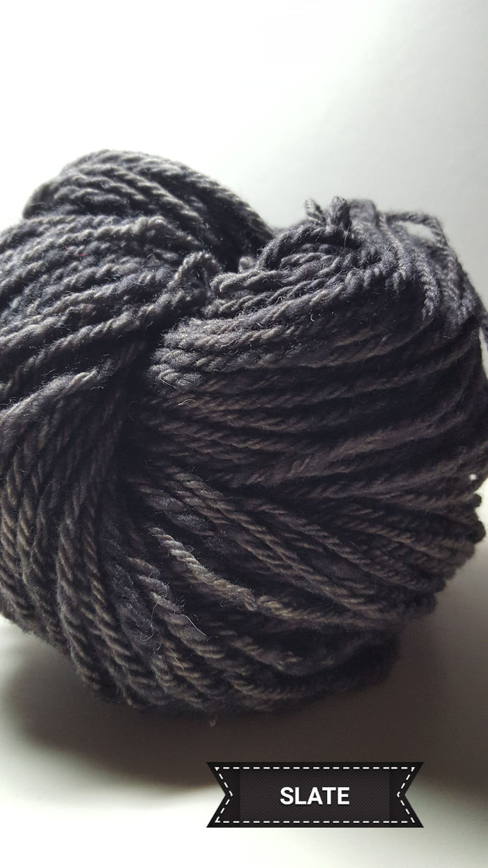 Slate - Hand Dyed Aran/Worsted Yarn for Rug Hooking