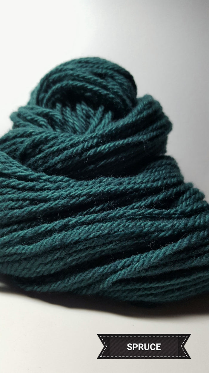 Spruce - Hand Dyed Aran/Worsted Yarn for Rug Hooking