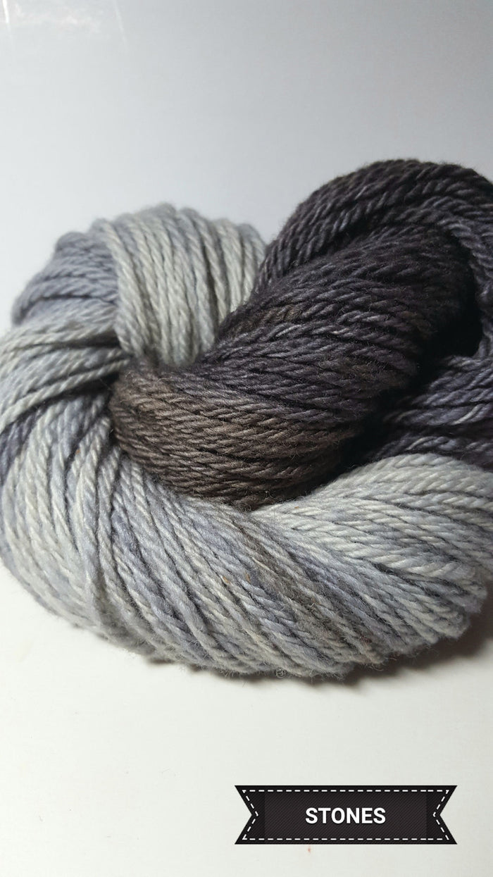 Stones - Hand Dyed Aran/Worsted Yarn for Rug Hooking
