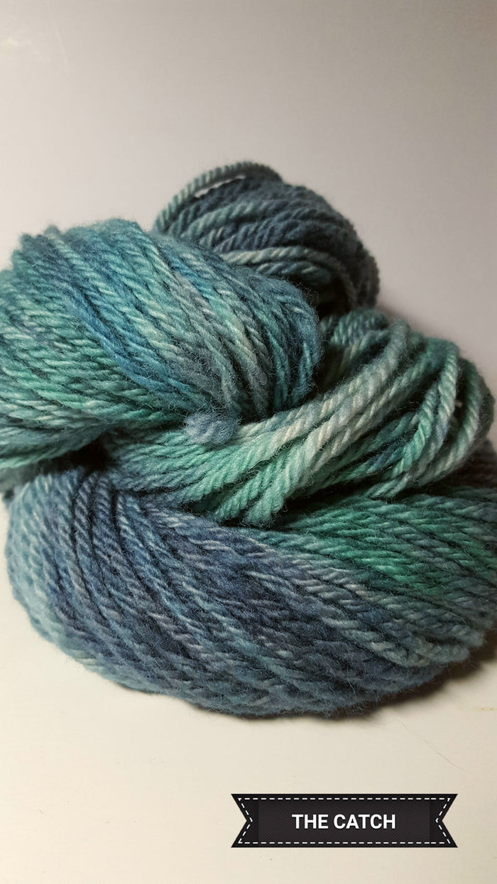 The Catch - Hand Dyed Aran/Worsted Yarn for Rug Hooking