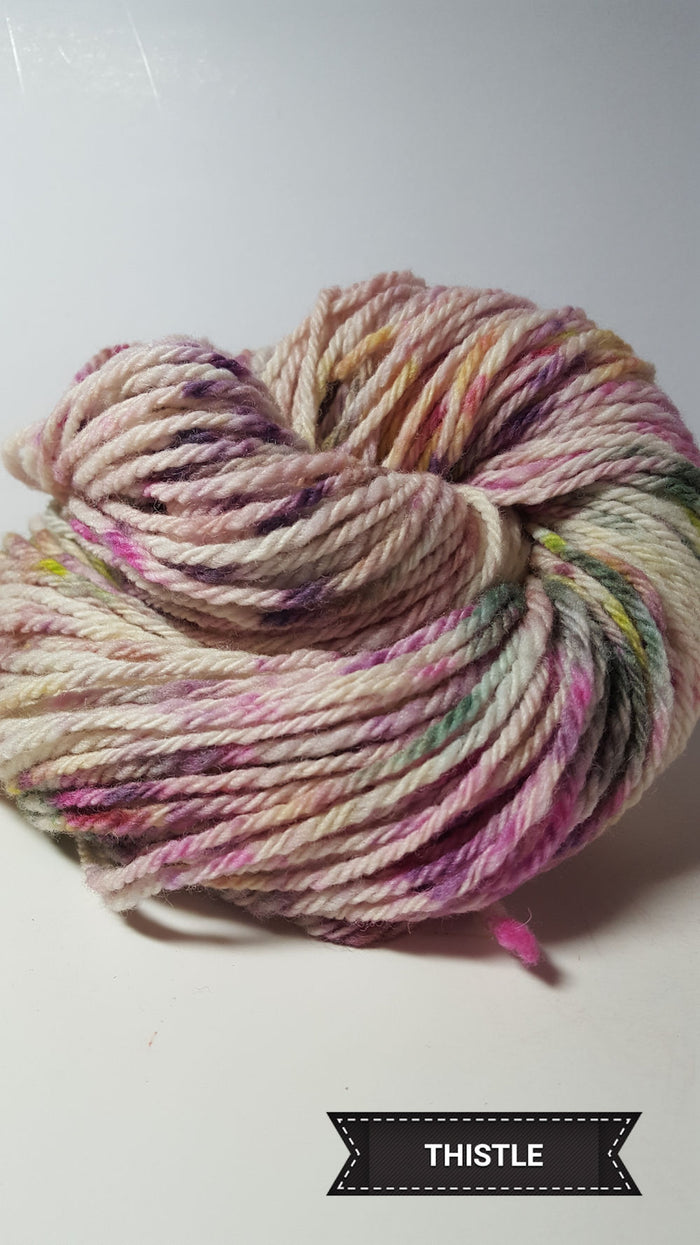 Thistle - Hand Dyed Aran/Worsted Yarn for Rug Hooking