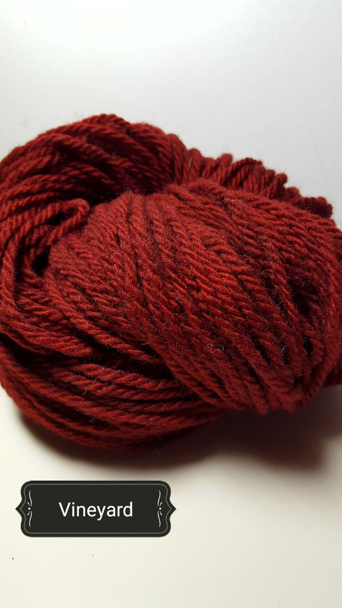 Vineyard - Hand Dyed Aran/Worsted Yarn for Rug Hooking