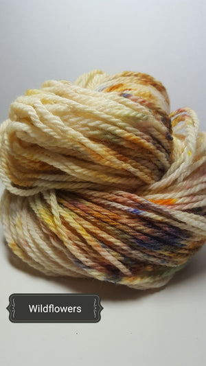 Wildflowers - Hand Dyed Aran/Worsted Yarn for Rug Hooking