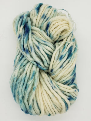 Flouf - AGAVE - 100% Merino Chunky - Fleece Artist Hand Dyed Yarn - Cream/Blue
