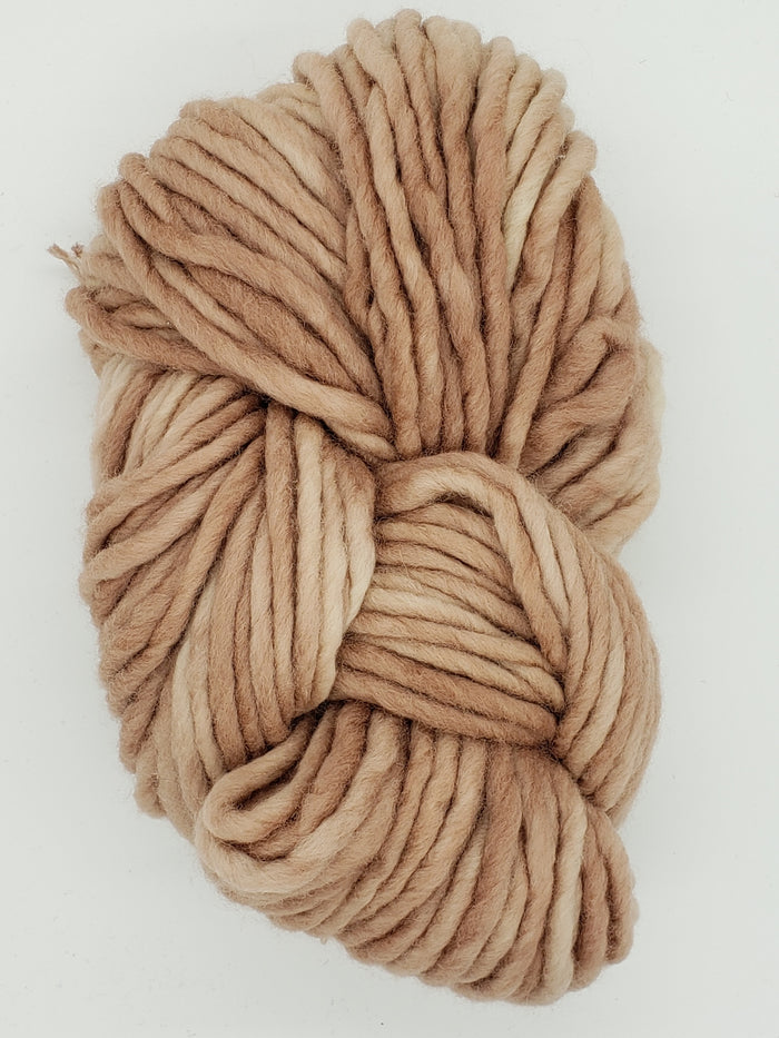 Flouf - CREMA - 100% Merino Chunky - Fleece Artist Hand Dyed Yarn - Pink Brown
