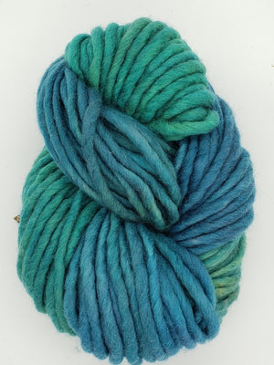 Flouf - MERMAID'S TAIL - 100% Merino Chunky - OOAK Fleece Artist Hand Dyed Yarn -