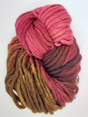 Flouf - RED MAPLE - 100% Merino Chunky - Fleece Artist Hand Dyed Yarn -