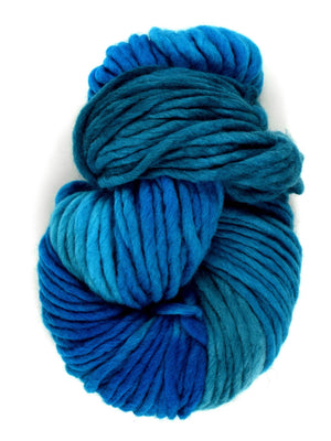 Flouf - TOPAZ - 100% Merino Chunky - Fleece Artist Hand Dyed Yarn - Shades of Blue