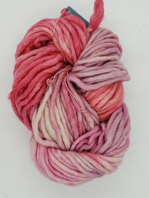 Flouf - CACTUS FLOWER - 100% Merino Chunky - Fleece Artist Hand Dyed Yarn - Shades of Pink