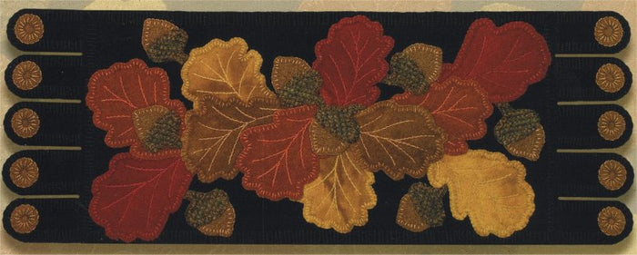 Acorn Lane #111 Wool Applique Pattern - Table Runner - Ginger Sanchez