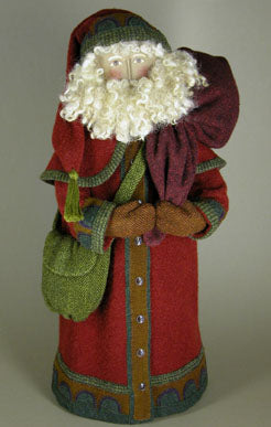 GAIL WILSON - 18 inch PENNY RUG WOOL SANTA - Mini Kit