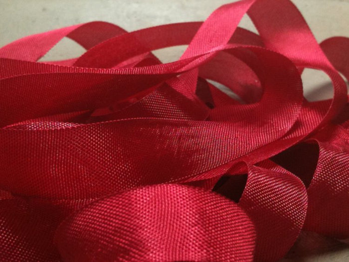 Basque Red - Silk Style Vintage Ribbon - 5 Yards