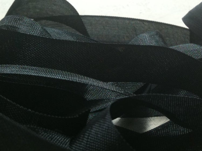 Black - Silk Style Vintage Ribbon - 5 Yards