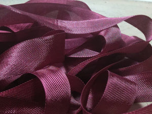 Bordeaux Wine - Silk Style Vintage Ribbon - 5 Yards