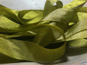 Dusty Olive - Silk Style Vintage Ribbon - 5 Yards