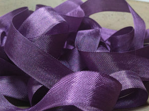 Elderberry - Silk Style Vintage Ribbon - 5 Yards