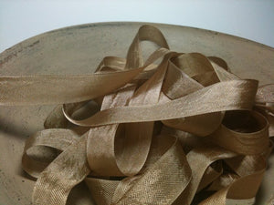 Fig Beige - Silk Style Vintage Ribbon - 5 Yards