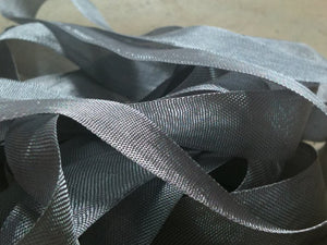 Grey Mist - Silk Style Vintage Ribbon - 5 Yards