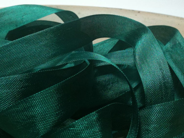 Jade Green - Silk Style Vintage Ribbon - 5 Yards