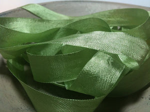 Moss Green - Silk Style Vintage Ribbon - 5 Yards