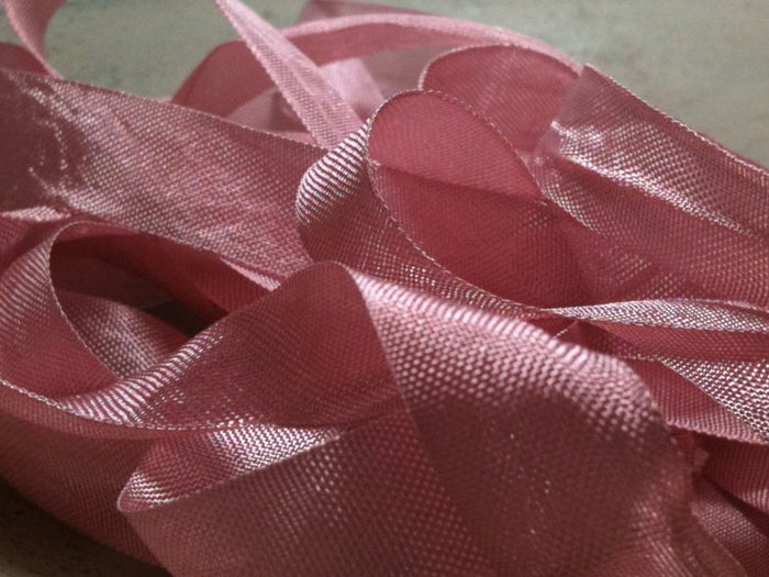 Rose Petal - Silk Style Vintage Ribbon - 5 Yards