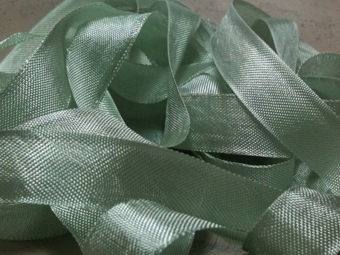 Sea Moss - Silk Style Vintage Ribbon - 5 Yards