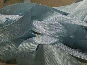 Sistine Blue - Silk Style Vintage Ribbon - 5 Yards